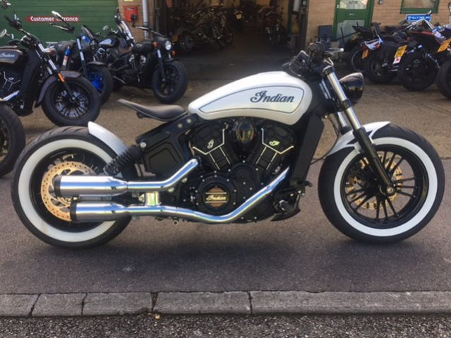 indian scout custom bobber build bournemouth motorcycles. Black Bedroom Furniture Sets. Home Design Ideas