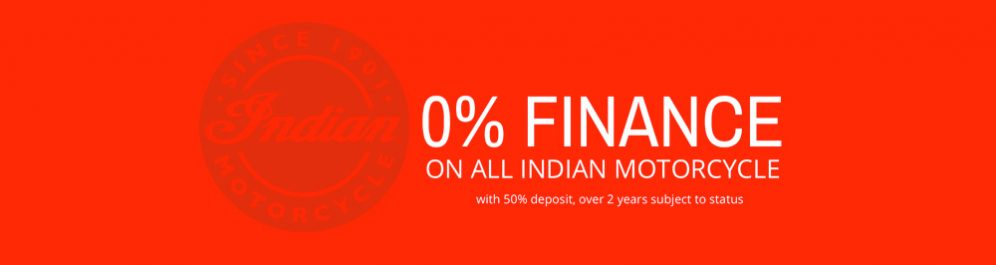 Zero Percent finance on Indain Motorcycles