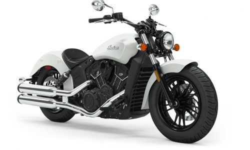 2019 indian Scout Sixty white smoke